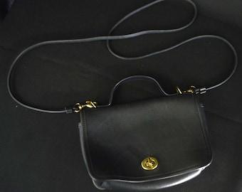 Coach Small Black Purse (with detachable straps)
