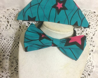 Men's Ankara Bow Tie Set