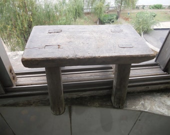 Old  wooden bench Old  Small  square stool  old  benches  old  trunks  SF02