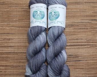 Hand dyed yarn - 50g Cashmere/Silk/Merino, DK weight (8 ply) in 'Silver'