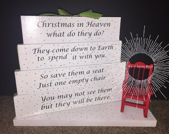 Christmas in Heaven block set with Chair