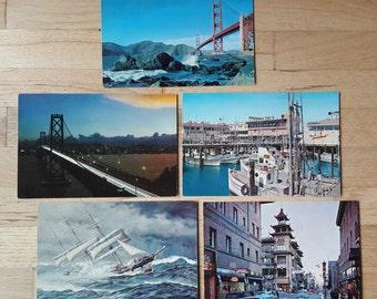 Lot of vintage San Francisco postcards, large-sized