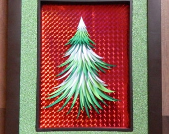 3D Paper Sculpture Tree Needles