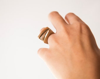 Modular rings. 3 in 1, Bronze and silver rings