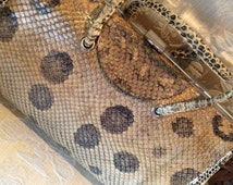 9x6 inches 40's snakeskin bag. Good condition. Vintage