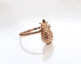 Rose Gold Pineapple Ring