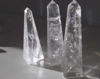 Clear Crystal Quartz Obelisk