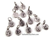 Stations of The Cross 14 Medal Bracelet Charm Set | Italian Rosary Parts