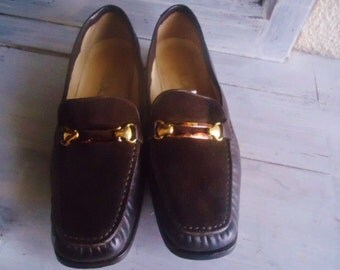 """Vintage Leather shoes with tasle"""" Footside"""",vintage women shoes/"""