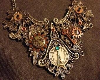 Steampunk statement necklace