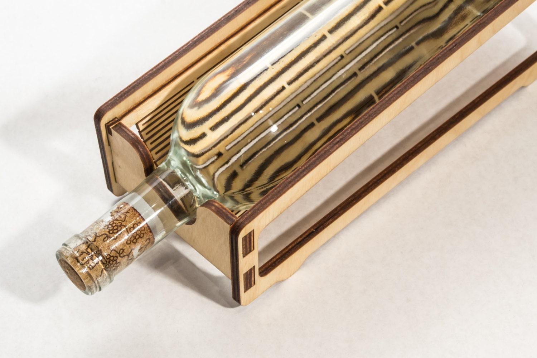 Wood Wine Rack Single Laser Cut Living Hinge