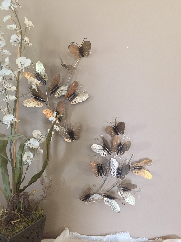 vintage wall decor gold butterfly decor wall art vintage. Black Bedroom Furniture Sets. Home Design Ideas