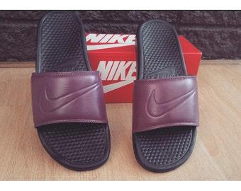 "Nike sandals ""burgundy"" customs"
