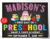 First Day of School Sign, First Day of Kindergarten Sign, First Day Of Preschool Sign, Back To School Sign, last day of school, boy or girl