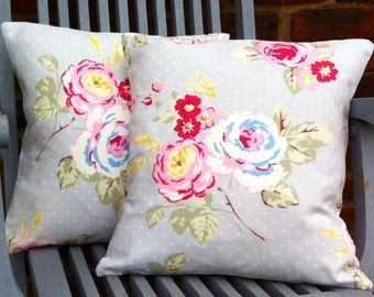 Floral Cushion cover/Floral Cushion/ flower/scatter cushion/ cushion with flowers/rose cushion cover/ housewarming gift/decorative pillow/
