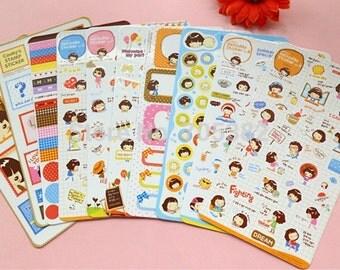 Helloday Stickers (8 sheets)