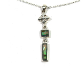 Necklace and abalone shell pendant