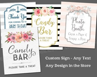 Printable Custom Text Sign 8x10 Choose Any Sign in the Store Wedding Baby Shower Digital Sign