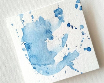 Tiny Art - Abstract Art - Small Abstract Art - Abstract Watercolor - Contemporary Art