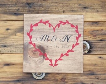 Personalized wood signs, Wedding Gift, Anniversary gift, Wood wall art, Wooden signs