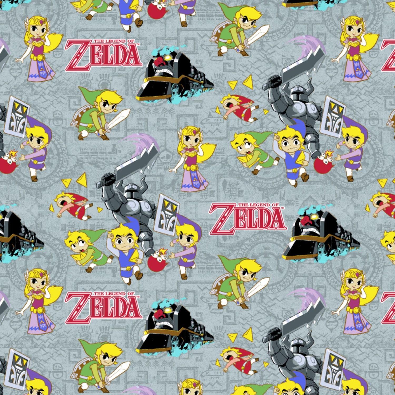 New Arrival Nintendo Legend Of Zelda Cotton Fabric Bty