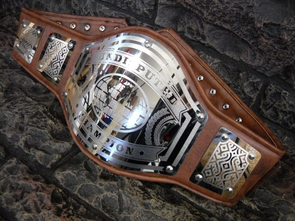 Undisputed Championship Belt Avenger Model Aged Brown Premium