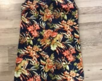 Ladies Tropical Flower pull over dress
