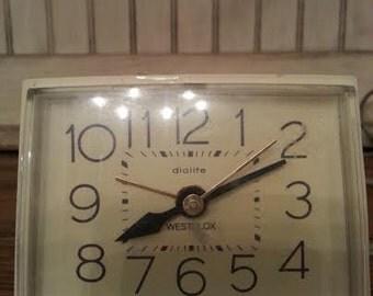Alarm Clock - Vintage Alarm Clock - Westclox Alarm Clock - Retro Alarm Clock - Mid Century Alarm Clock - Small Alarm Clock - Mad Men
