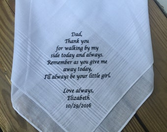 Personalized Handkerchief - Father of the bride