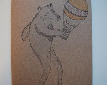 Balloon Bear Card