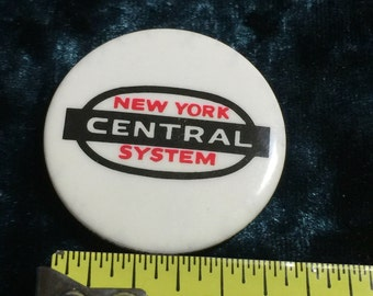 New York Central Railroad Button