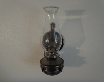 Vintage Wall Hanging Hurricane Lamp