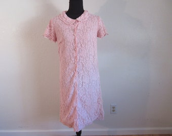 Vintage 1930's Pink Lace Dress