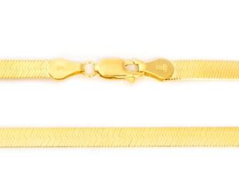 Herringbone In14k Solid Yellow Gold Supreflex Bracelet