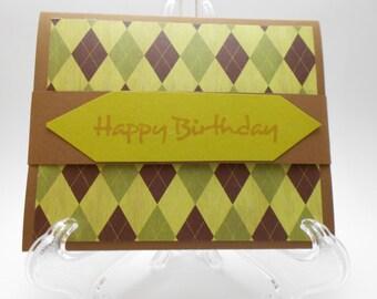 Men's Birthday Gift Card Holder