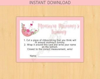 INSTANT DOWNLOAD - Measure Mummy's Tummy - Pink Umbrella