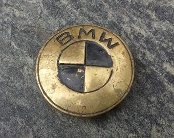 "Vintage 1978 ""BMW"" Solid Brass Belt Buckle"