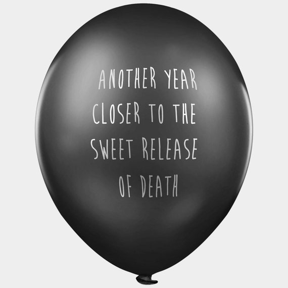 Abusive balloons - 3 designs - Mixed bag for him - Pack of 13 black pessimistic and depressing party balloons with abusive messages