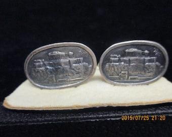 Vintage silver 500 gram Parthenon cufflinks