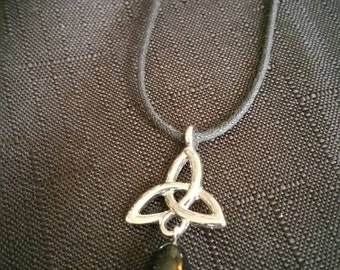Lucky Triquetra pendant necklace