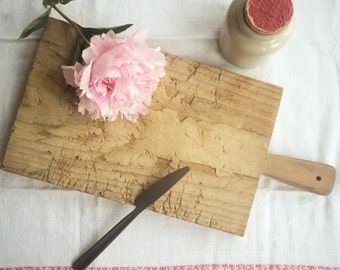 Wooden French Vintage Breadboard.