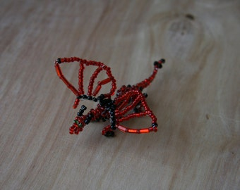 Miniature Beaded Dragon