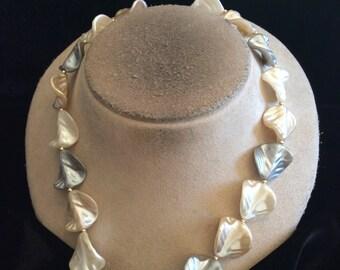 Vintage Gray & Tan Necklace