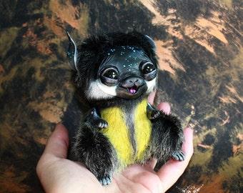 Fantasy Animal. Little soft toy, toys handmade, Halloween theme