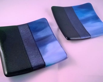 Set of Two Fused Glass Plates RESERVED