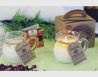 Rustic Natural Soybean Essential Oil Jug Candles