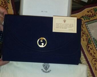 Vintage Collectible Gucci Peau De Soie (Duchess Satin) Evening Bag