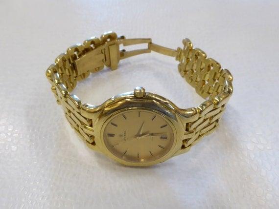 cyma 18k solid gold bracelet dress swiss by