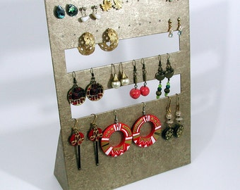 DISPLAY for EARRINGS - old gold