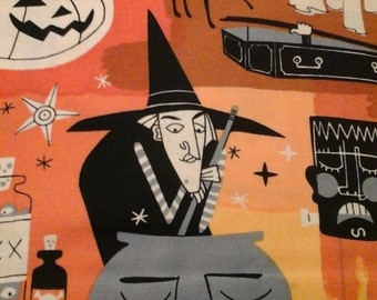 Halloween Fabric Alexander Henry 1 yard Cotton